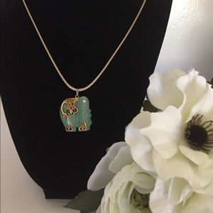 Jewelry - Genuine jade elephant pendant