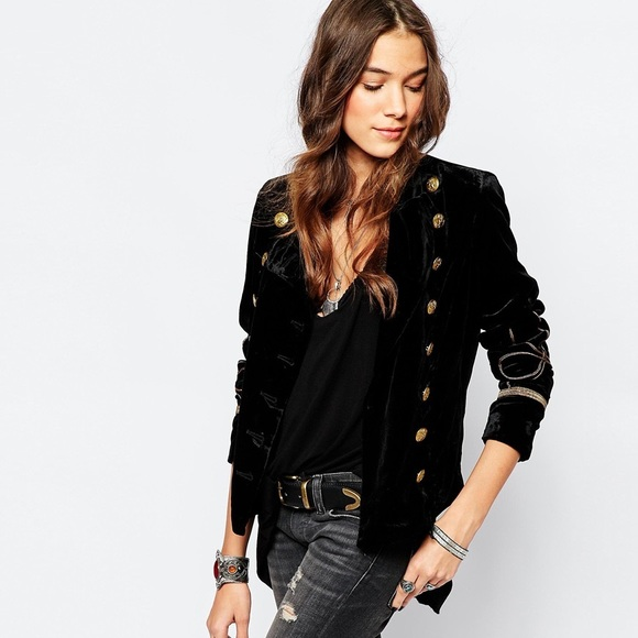 Denim & Supply Ralph Lauren Jackets & Blazers - Velvet Military Blazer