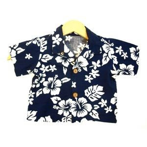 Kids boys vintage Hawaiian shirt