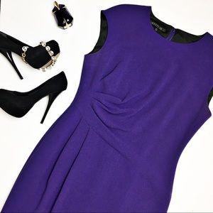 Lafayette 148 Ruched Wool Dress