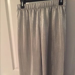 Zara silver metallic culottes new without tag