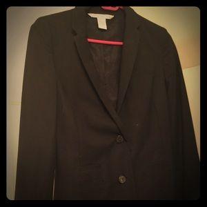 Diane Von Furstenberg black dress coat