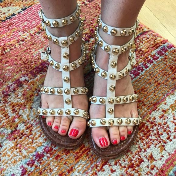 9f657fb00de ... gold studded gladiator sandals. M 59da9ae4981829470000660a