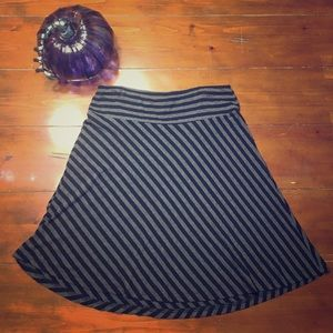 Black and gray skirt