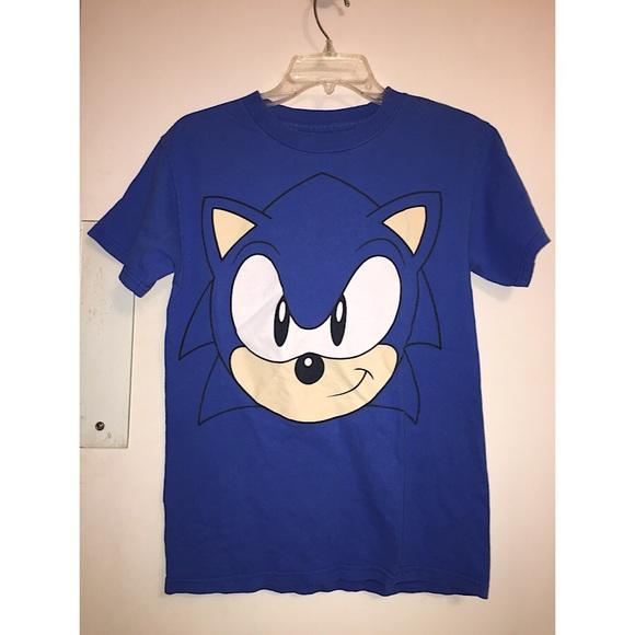 Sega Shirts Sonic The Hedgehog Face Graphic Tee Poshmark