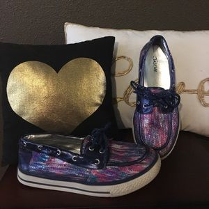 Justice Shoes - Girls Justice Sequin Loafers