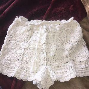 Pants - Hawaiian crochet shorts