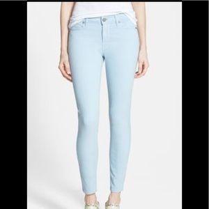 Paige super light wash cropped jeans