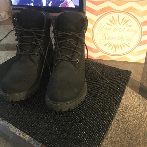 Women's timberland boots size 7 black nubuck