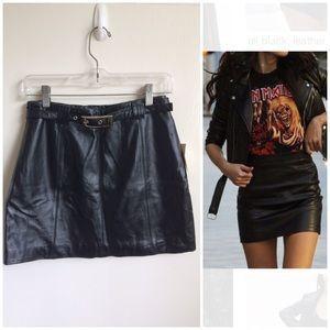 Edgy Leather Mini Skirt