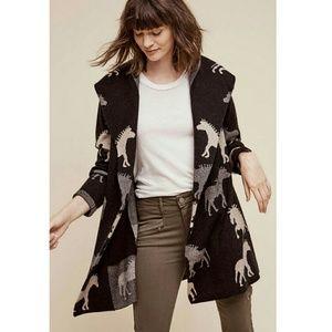 Anthropologie Dressage Sweater Coat