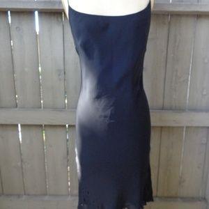 A.B.S by Allen Schwartz Black Eyelet cutout dress