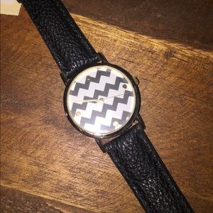 New with Tag Black Chevron Watch