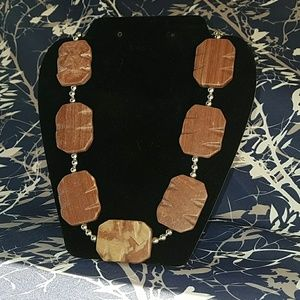 "Jewelry - ""Dahlia"" Redwood Marble Statement Necklace"