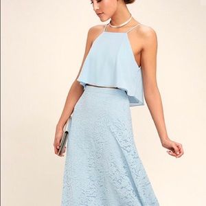 Baby blue 2 piece maxi - never worn New with tags.