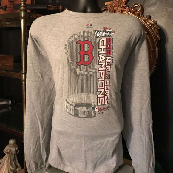 7571b01b Majestic Shirts | Boston Red Sox 2013 World Series Long Sleeve ...