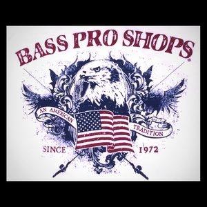 Bass Pro Shops white tee