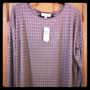 Lovely Taupe 3/4 sleeve tunic