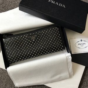 Authentic Prada Studded Wallet
