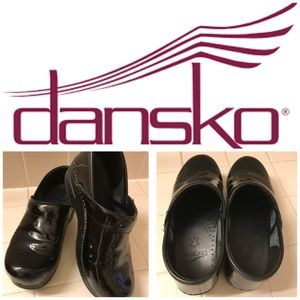 Dansko Shoes - Dansko Black patent leather clogs