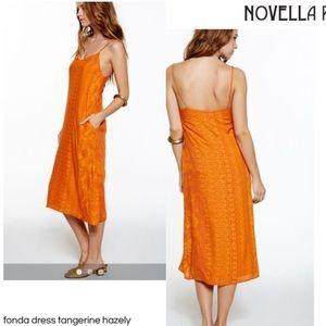 Novella Royale Fonda Midi Dress size large new