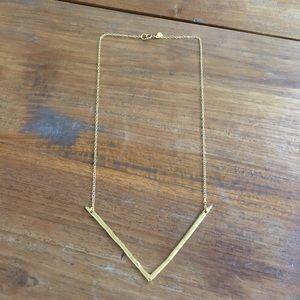 Gorjana vista long necklace, gold plated.