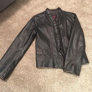 Black Pleather Jacket by Gallery
