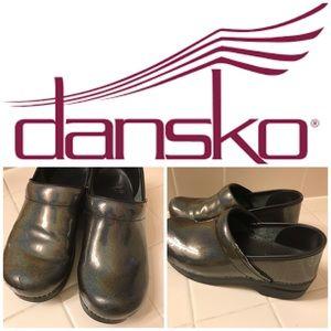 Dansko Grey iridescent clog