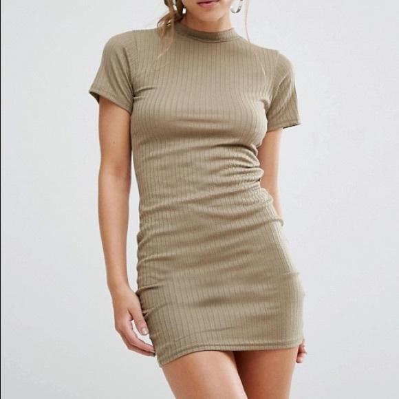 c3c4512d ASOS Dresses | Ribbed Bodycon Tshirt Dress | Poshmark