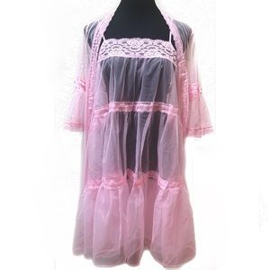 Vintage bouffant nightgown dress