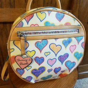 Dooney & Bourke Heart Coated Canvas Round Backpack
