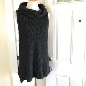 🆕Sonoma waffle-knit cowlneck sleeveless sweater