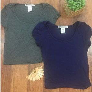 XS crop tee bundle