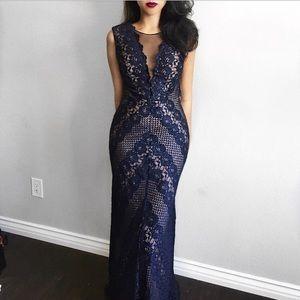 💞New Arrival💞 Nightway Navy Evening Gown