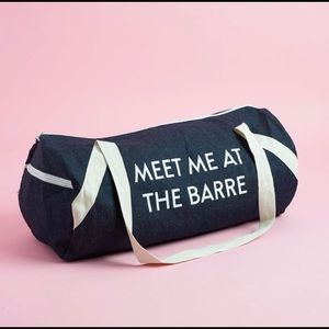 """Private Party """"Meet me at the Barre"""" gym bag"""