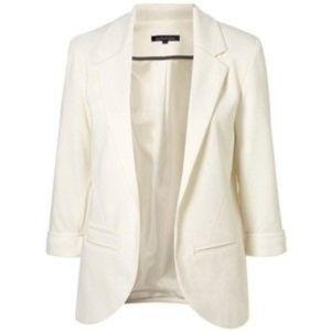 {Aqua} Women's White Blazer - Size Medium