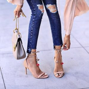 RAYE Beaty Nude Sandals