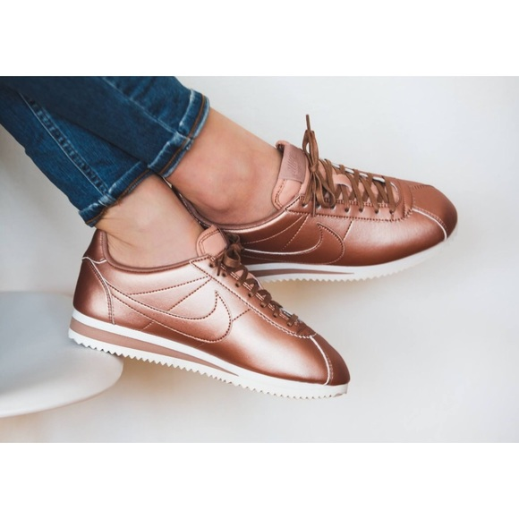 Nike Rose Gold Cortez Sneakers. M 59dab1172ba50a9d6300d140 a280f6bb9