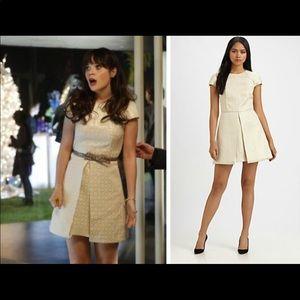 Anais Jacquard Cream Gold Dress by Tibi size 2