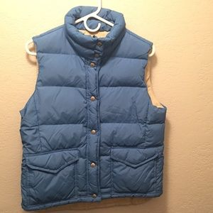399b77ce8 Two Women's J. Crew Down Vests, Large