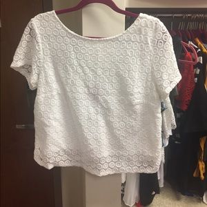 Lilly Pulitzer for Target Eyelet Crop Top