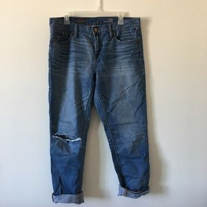 J. Crew Slim Broken In Boyfriend Denims