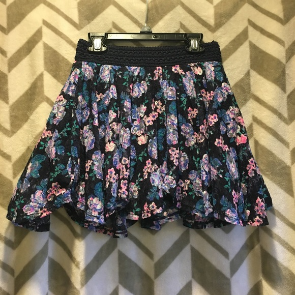 Justice Other - Girls Justice floral print skirt