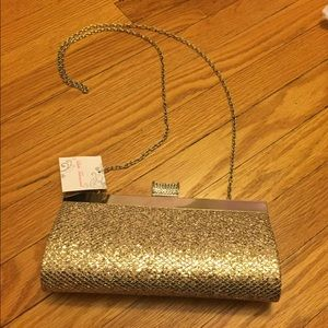 Lulu Townsend | Gold Sequin Clutch