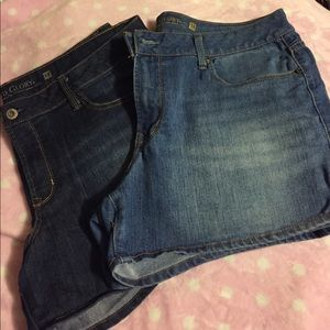 2 pair Jean Shorts with Stretch
