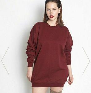 Dresses & Skirts - Burgundy Sweatshirt dress