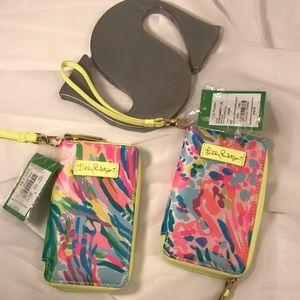 NWT Lilly Pulitzer Fan Sea Pants Tiki Palm case