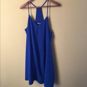 Cobalt blue trapeze dress