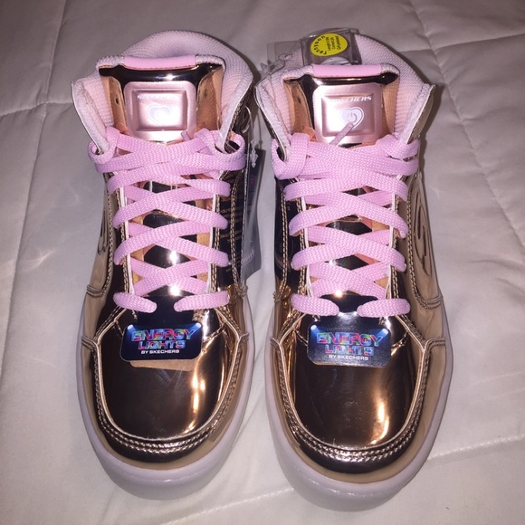 0860c8185189 Skechers Energy Lights Rose Gold