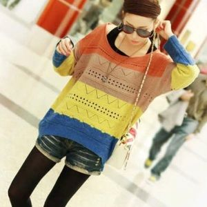 Last one! Colorful Hollow Out Sweater with review